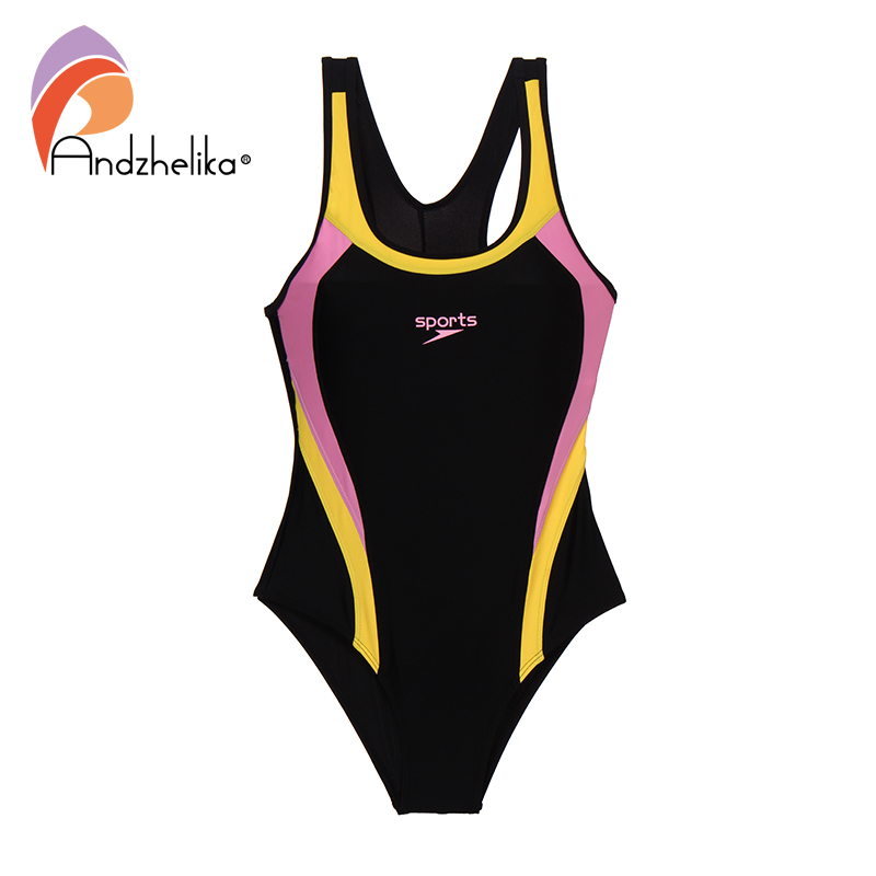 Andzhelika 2019 New Children Swimsuit Girls Sport One Piece Swimwear Patchwork Bodysuit Kid Bathing Suit Child Beach Monokini 3
