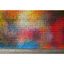 Laeacco Color Brick Wall Gradient Floor Celebration Baby Stage Scene Photography Backgrounds Photographic Photo Backdrops Studio