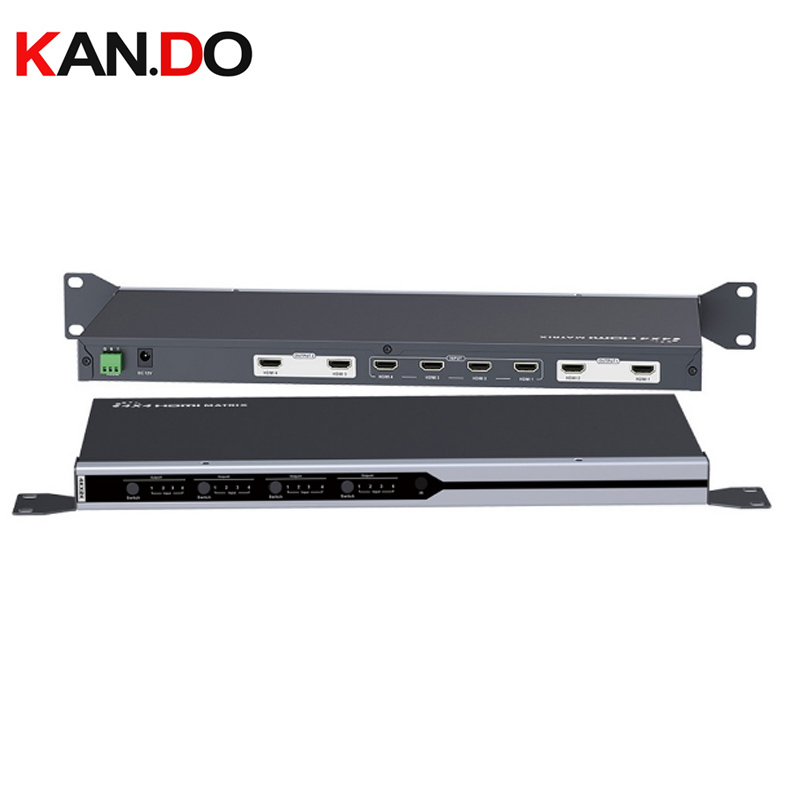 414  HDMI 3D 4 X 4 HDMI Matrix Switch  4 HDMI Inputs And 4 HDMI Outputs  Resolution Supported Is 4Kx2K @ 30Hz.