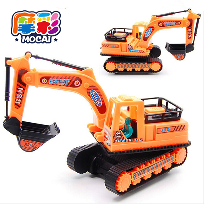 mocai 2017 Kids toys with a belt engineering Model car Plastic random sent for children boys brinquedos Truck Assembly JHTY139