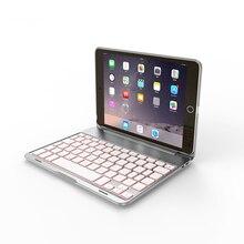 цена на 7 Colors LED Backlight Ultra-Slim Aluminum Alloy Button Bluetooth Keyboard Protector&Stylus keyboard  for iPad Air 1
