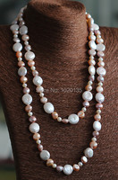 freshwater pearl necklace multicolor baroque necklace 30inch nature fashion necklace FPPJ