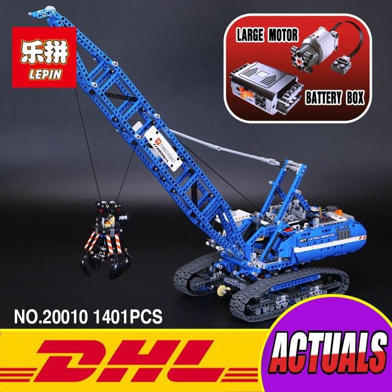 Lepin 20010 New 1401Pcs Genuine Technic Mechanical The Crawling Crane Set Building Blocks Bricks Educational Toys 42042 ювелирное изделие 20010