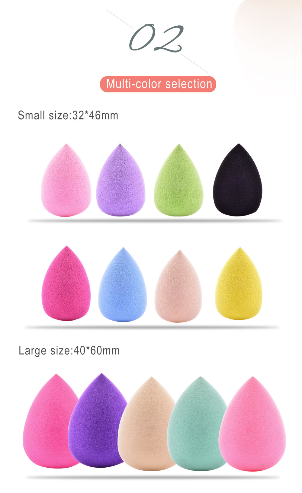 Pooypoot Soft Water Drop Shape Makeup Cosmetic Sponge Clean Makeup
