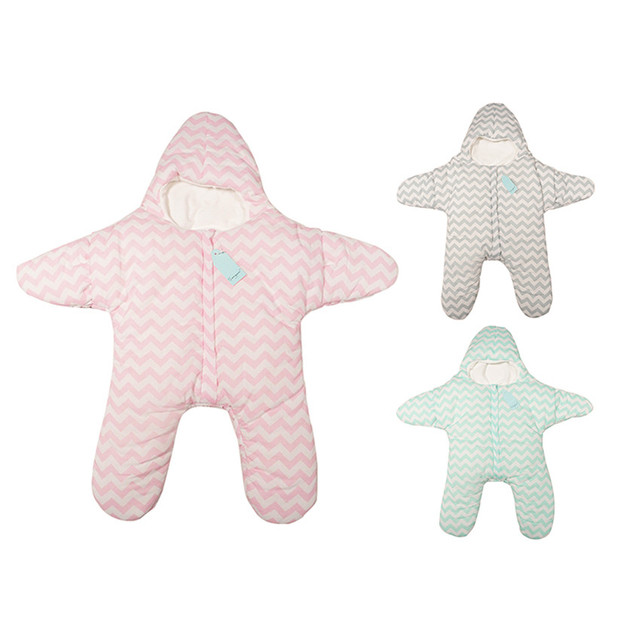 Lovely Starfish Shape Sleeping Bag for Newborn Baby Winter Warm Grobad 3 Color Available