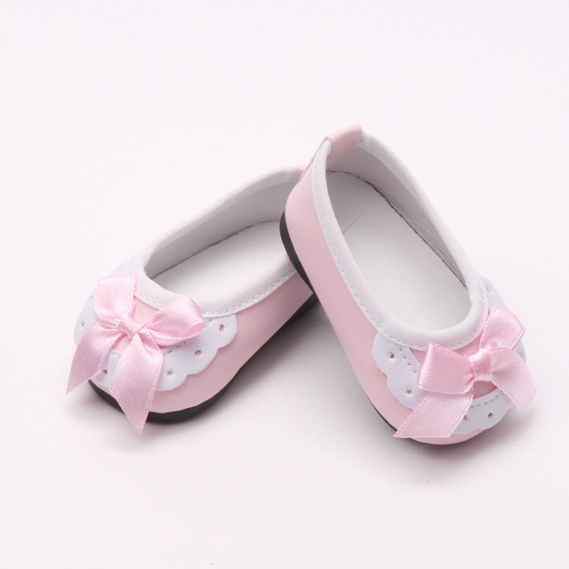 1367b08dcc693 Hot 18 inch American girl dolls lovely pink shoes for newborn baby doll  accessories (only selling shoes)