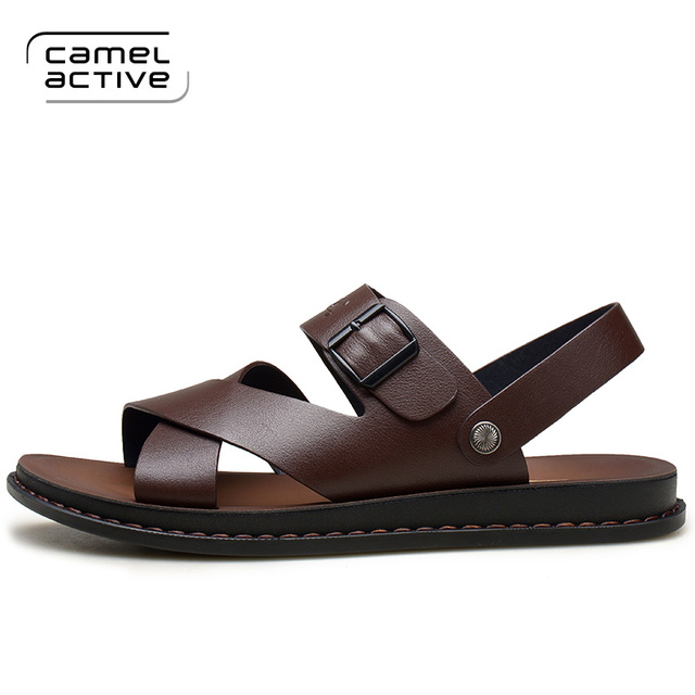 01269eb7f68 Camel Active Men Sandals Genuine Leather Sandals Men Fashion Comfortable  Leisure Brand Shoes Men Beach Sandals