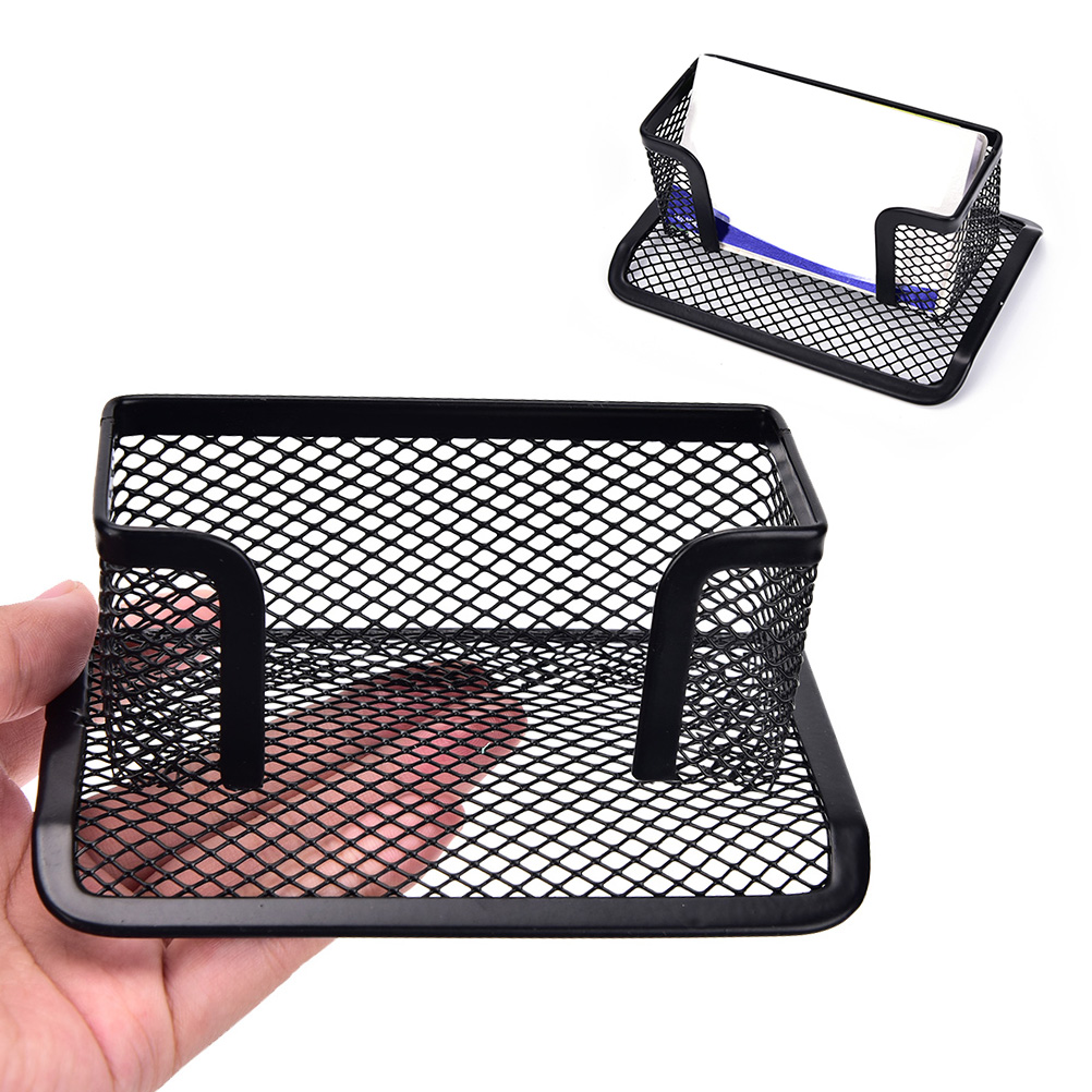Card Case Display Stand Black Mesh Holder Tray Storage Organizer Office Supplies Business Desk Shelf Box In Stationery From
