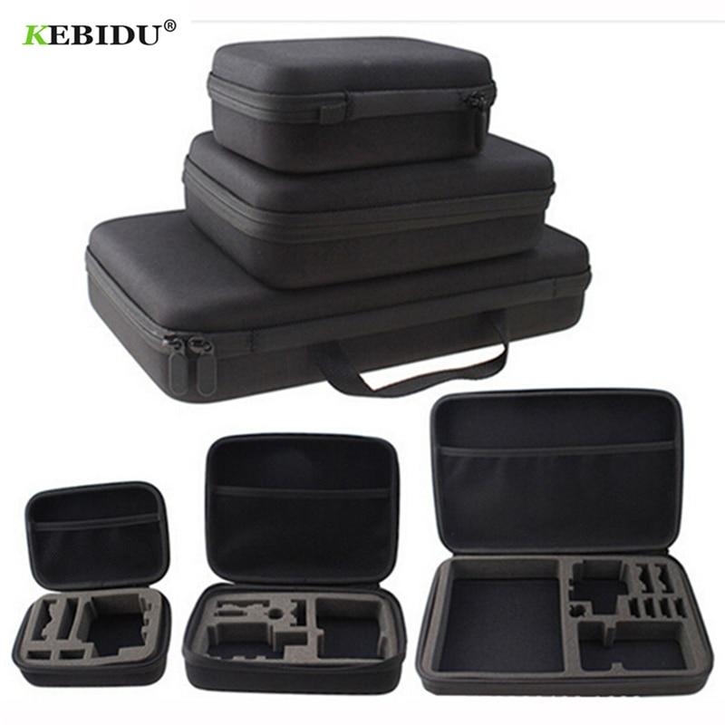 Consumer Electronics Frugal Kebidu Medium Portable Travel Storage Collection Bag Case For Gopro Hero 3 4 2 Sj4000 Sport Camera Accessories Newest Digital Gear Bags