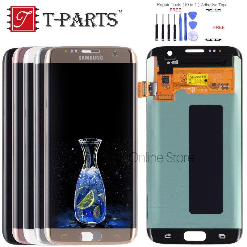 T-PARTS Nouveau 5.5 Super AMOLED Pour SAMSUNG Galaxy S7 Bord LCD Affichage G935 G935F G935FD SM-G935 Écran Tactile Digitizer pièces