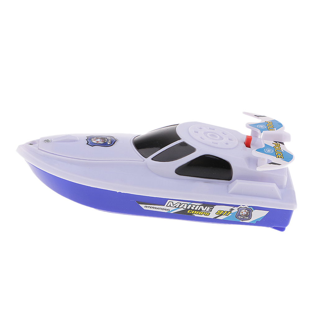 Battery Operated 6 Inch Water Boat Toy for Baby Kids Bath Bathtub Bathtime Swimming Pool Fun Toy Birthday Gift - White