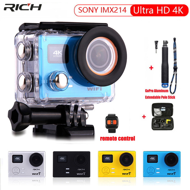 Action Camera Ultra HD 4K 1080p 60fps 12MP Remote control WiFi IMX214 Built-in Gyro 170 d wide angle Extreme Sports camera eglo подвесная люстра eglo deerhurst 49687