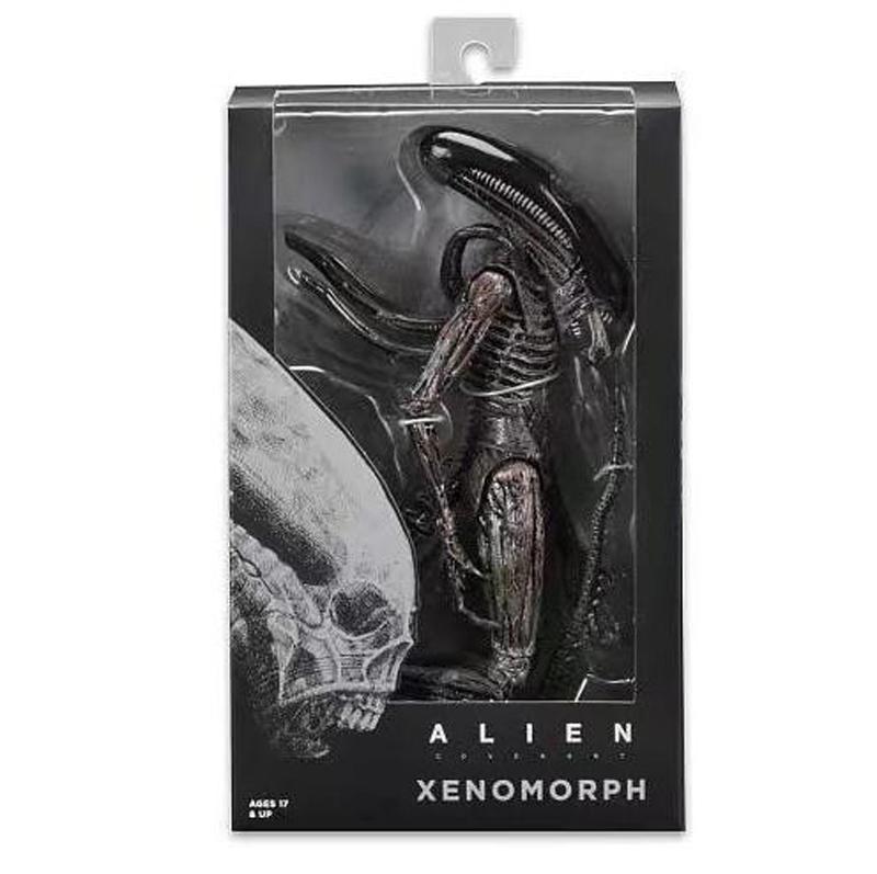 Movie AVP Aliens vs Predator Figure Series Alien Covenant Xenomorph Neomorph Creature Pack Toy Action Figures Model Toy Gift (2)