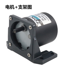 AC220V 40W Synchronous Motor Miniature Low Speed Permanent Magnet Reversible Small Gear + Bracket