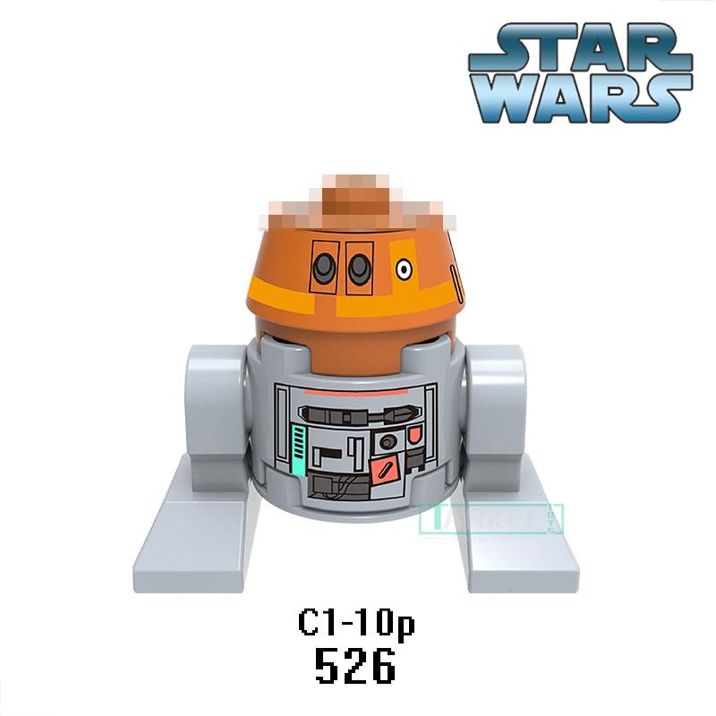 1pc Building Blocks Toys R2D2 BB8 C1-10P Star Wars Figures Smart Robot RSD8 C110P RSJ2 Classic Bricks Model Toys XH 526 Gift