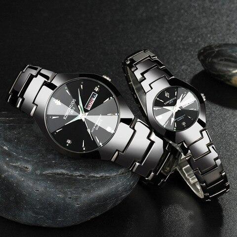 Amantes da Marca Relógio de Forma para Mulheres Luminosos dos Homens Casuais à Prova Relógios de Pulso de Quartzo Top de Luxo Novo Calendário Relógios Água Unisex 2020 d'