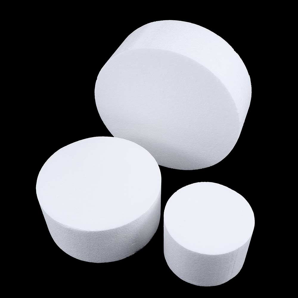 4/6/8 Inch Sugarcraft Dummy Modelling Party DIY Practice Model Cake Foam Mould Round Polystyrene Styrofoam Kitchen Accessories