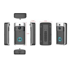 Image 5 - Smart IP wideodomofon bezprzewodowy dostęp do internetu wideo telefon drzwi dzwonek do drzwi wizjer wbudowaną kamerą WI FI do mieszkania IR alarmu bezprzewodowa kamera do monitoringu