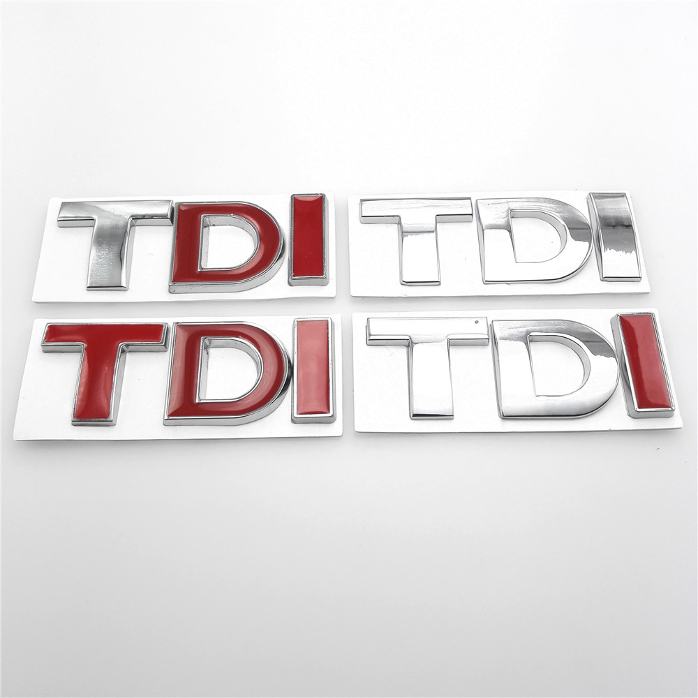 Car 3D TDI Badge Emblem Decal Sticker Logo for VW Skoda Golf JETTA PASSAT MK4 MK5 MK6 Car styling car accessories car styling tdi badge emblem decal car sticker for vw golf jetta passat mk4 mk5 mk6 skoda seat car accessories car styling
