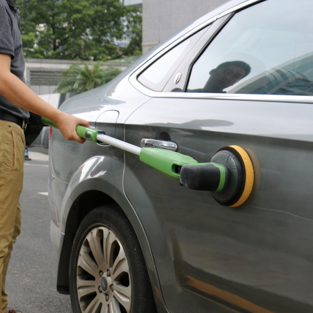 12v Electric Car Wash Machine Clean And Polish Brush Cleaner With Telescopic Rod