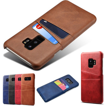 Galaxy S9 Plus Leather Cover Case