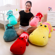 1 8 Meter Five Colors Super Cute Cartoon Creative Plush Hippo Long Pillow Toys Filling High