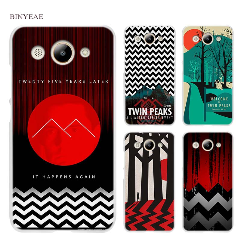 BINYEAE Welcome Twin Peaks Hard Transparent Case Cover Coque Shell for Huawei Y3 Y5 Y6 II 2017 Pro