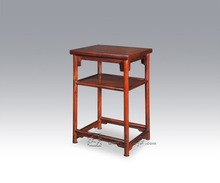 Chinese Small Tea Table Round Legs and Straight Feet with Interlayer Living Room Furniture Burma Rosewood Classical Low Desk