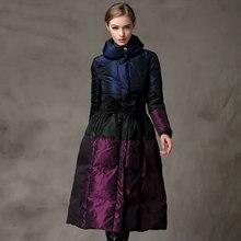 Winter dress Down coat Women Overknee long Enlarge Woman stand collar Jacket Loose Coat parka party fashion female puffer jacket