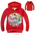 Cartoon Pokemon Go Girls Hoodies Sweatshirt Girls Long Sleeve Clothing Hooded Kids Clothes Boys Sweatshirt Children Autumn Tops