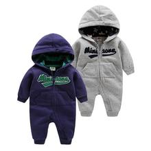 2019 модная одежда для маленьких мальчиков, толстовки для мальчиков, одежда для первого дня рождения, детские комбинезоны, комбинезон с капюшоном и длинными рукавами Orangemom