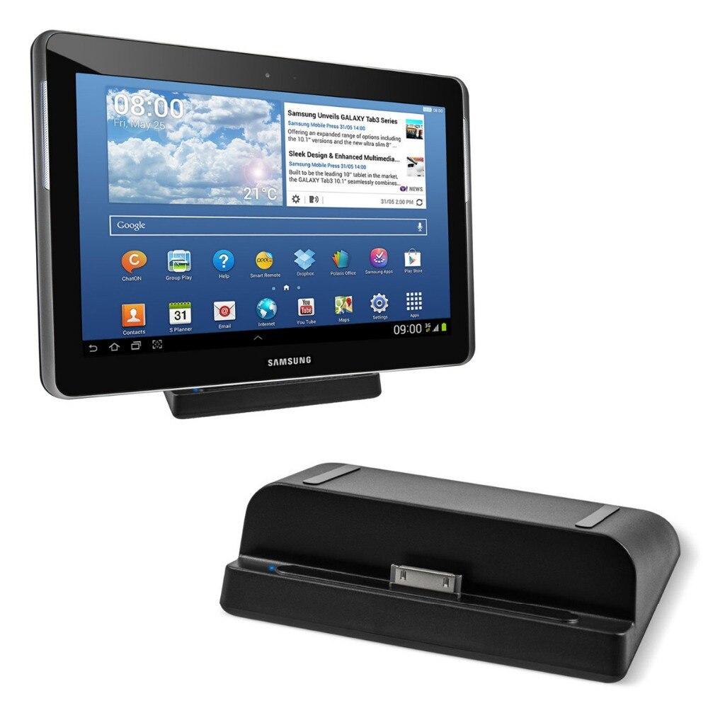 USB de escritorio estación del cargador del muelle + Cable para Samsung Galaxy TAB 2 7,0 8,9 10,1 P5200 nota 10,1 N8000