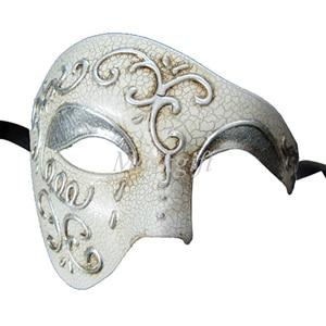 Лидер продаж черные туфли высокого качества красные, синие фиолетового и зеленого цветов, цвета: золотистый, серебристый Венецианская маска Halloween Пластик маскарадные маски - Цвет: silver embossed