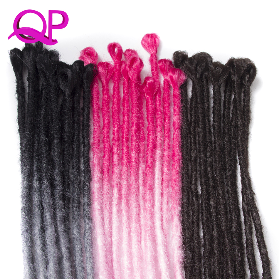 Qp Hair 5 stand Synthetic Dreadlocks Hair Crochet Braids Marley Hair Kanekalon Crochet Braiding Hair