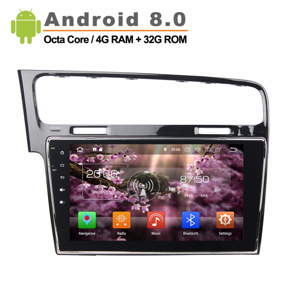 Android 8.0 Rockchip PX5 Cortex A53 Octa Core autoradio stéréo VW Golf 7 2013-2015 GPS Navigation vidéo lecteur Audio 4G RAM