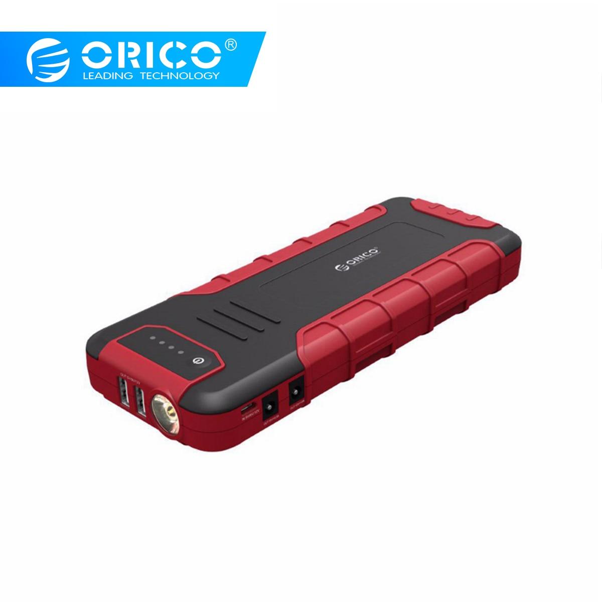 ORICO multi-função Mini-Carro Saltar de Arranque Impulsionador Banco Do Poder 18000 mAh Carregador de Bateria Para 12 QC3.0 V 10A 19 V 3.5A