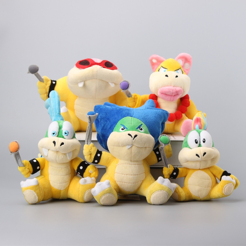7 Styles Super Mario Koopalings Larry Iggy Ludwig Wendy Roy Morton Lemmy O Koopa Stuffed Toys