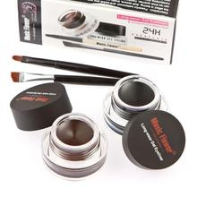 Beauty Lady 2Pcs Long Lasting Waterproof Eye Liner Brush + Eyeshadow Gel Makeup Cosmetic Brow Enhancers Aug 5