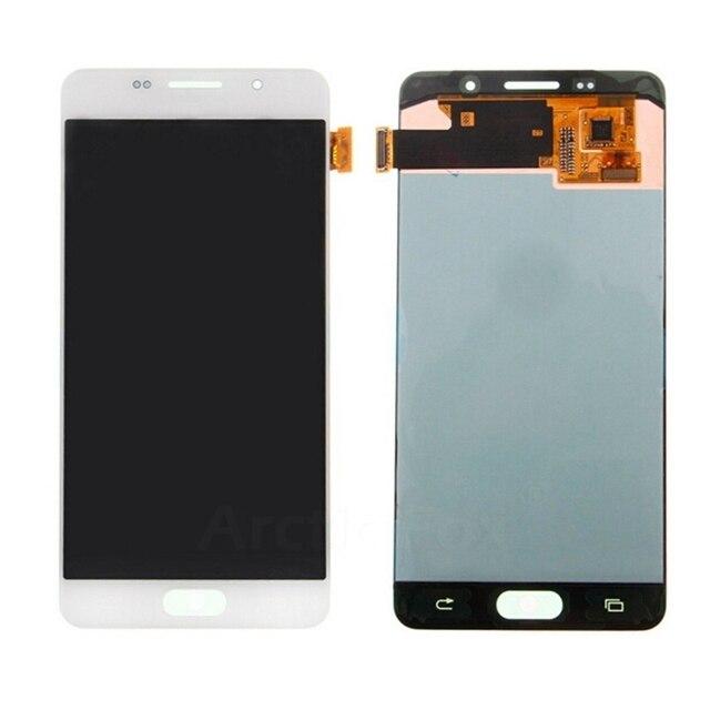 100% nenhum pixel morto para samsung galaxy a5 2016 a510f a510m a510fd a510 display lcd com tela de toque digitador assembléia