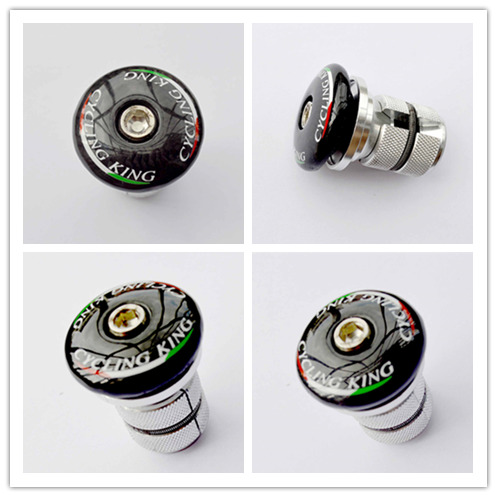 cyclingking Carbon Fiber Front <font><b>Fork</b></font> Tube Core Lifting Hanging Heart Bicycle Headset Bike Expansion Screw Lock Core Screw top cap