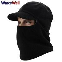 WmcyWellกะโหลกหน้ากากไหมพรมใบหน้าหน้ากากหมวกฤดูหนาวสำหรับผู้หญิงผู้ชายขนแกะหมวกคออุ่นหมวกห...