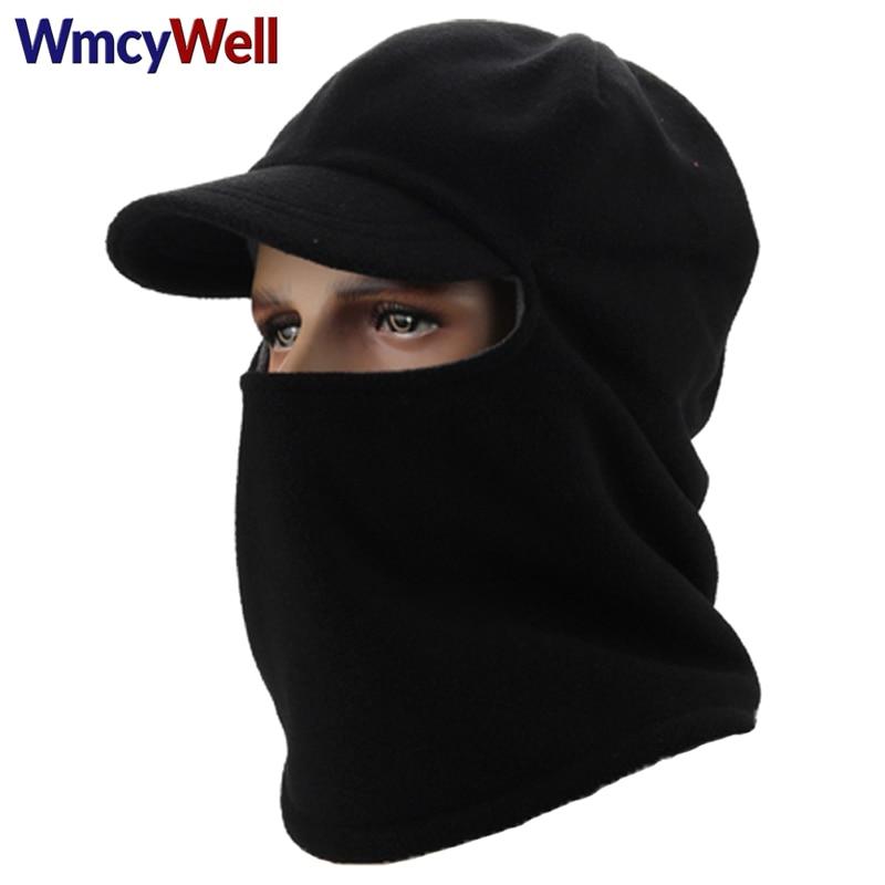 WmcyWell Skull Mask Balaclava Face Mask Winter Hats for Women Men Fleece Cap Neck Warmer Caps Winter Hats For Men Women Beanie airsoft adults cs field game skeleton warrior skull paintball mask