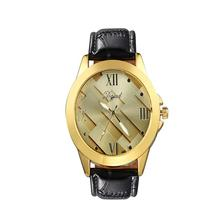 2017 Reloj 1PC New Model Luxurious Quartz Watch Males Ladies Well-known Model Gold Leather-based Band Wrist Watches Cool Dece19