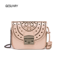 Fashion Women Genuine Leather Messenger Bag Handbag Ladies Small Crossbody Bags Famous Brands Designers Shoulder Bags