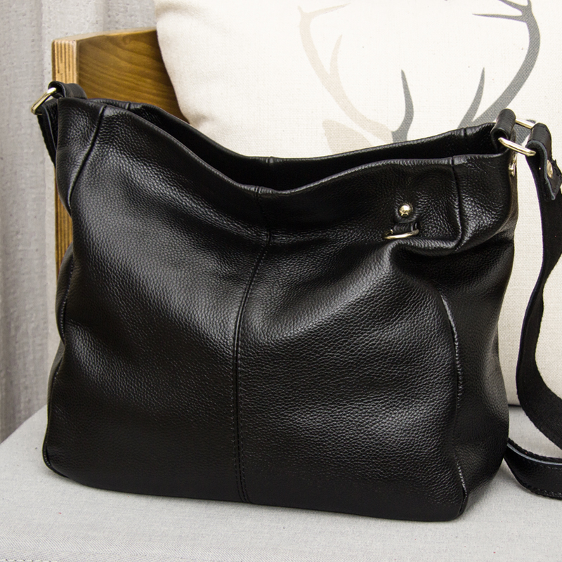CHEER SOUL Genuine Leather Women s Handbag Cowhide High capacity Shoulder Bags Women Fashion Messenger Bag