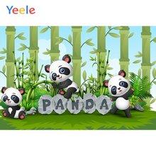Yeele sky cloud panda bamboos grassland детские фоны для фотосъемки