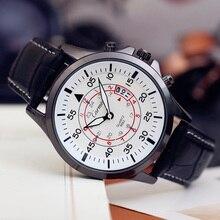 Мода простой стильный Топ Люксовый бренд Carmis Часы мужчины Кожаный ремешок ремешок Кварцевые часы Циферблат Часы человек N3395
