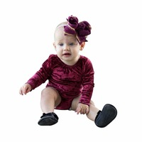 Autumn Winter Infant Baby Romper Velvet Girls Pleuche Long Sleeves Toddler Kids Playsuit Fashion Outfits for 0-24M Kids