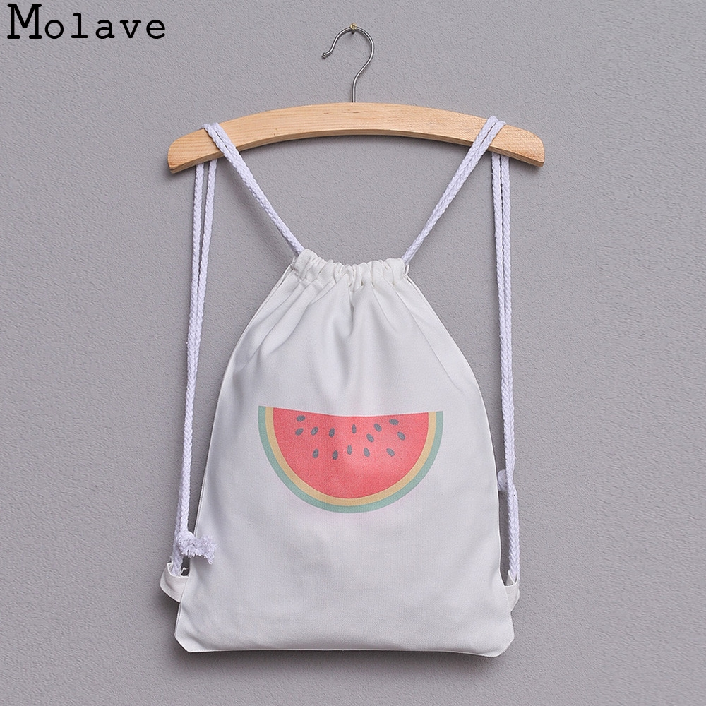 Backpack Watermelon Print Drawstring Backpack Large Tote Canvas Backpack Bag AP28