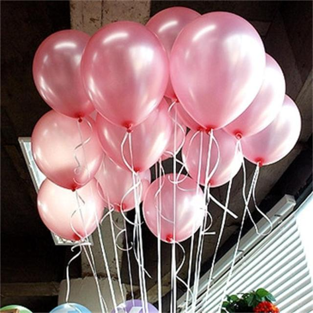10pcs/lot 10inch 1.5g pink Latex Balloon Birthday Party Wedding Valentine's Day Decor Air Globos Party Supplies baloon kid toys